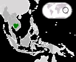 Розташування Камбоджі