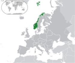 Розташування Норвегії