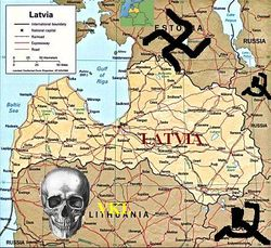 Розташування Латвії
