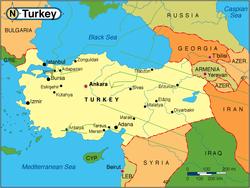 Розташування Туреччини