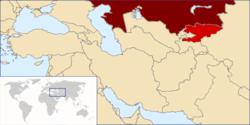Розташування Киргизстану