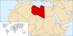 Розташування Лівії