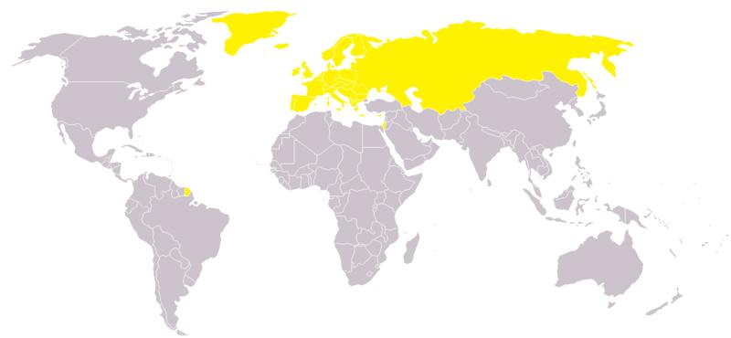 地球歐洲國家區劃