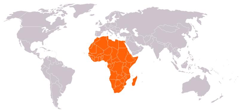 地球非洲國家區劃
