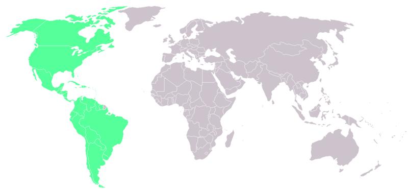 地球美洲國家區劃