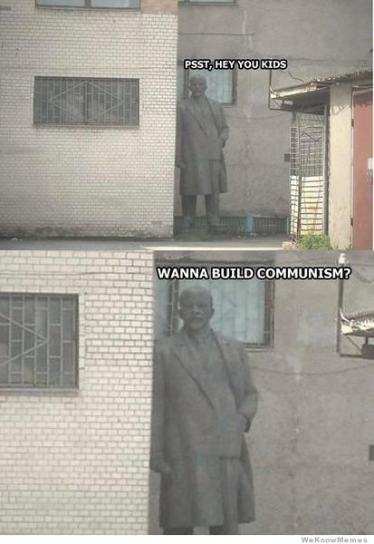檔案:Lenin-wanna-build-communism.jpg