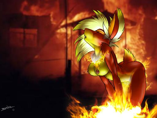 A picture of a female Flareon Furry.