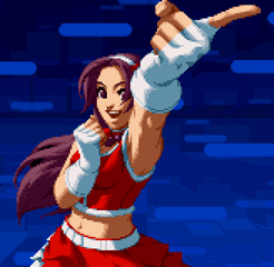 Not only does it grind her knuckles into your face, she additionally stabs one your eyes out with that move!