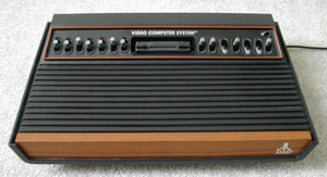 An Atari 2600. It is interesting to note that this system is the later released the fifteen switch design designed to cut back on the previous 16 switch design.
