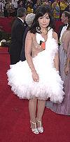 An icelandic swan dresses up as Bjork to celebrate Bjorksmas