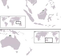 ブルネイの位置