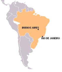 ブラジルの位置