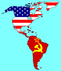 Americas Map with USA-USSR Flags.png