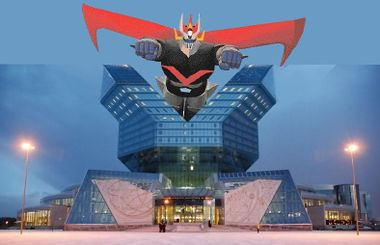 National library of Belarus with the Great Mazinger.jpg