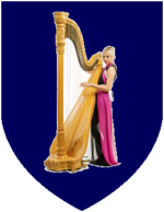 Coat of Arms of Ireland (with a harpist).png