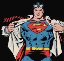 Supermann stripper for å redde menneskeheten.  DETTE ER FATIG!!!!!!