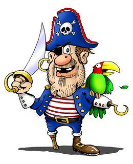 Pirater ser gjerne slik ut både på tv og i Disney World virkeligheten