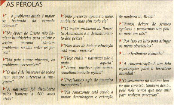Alguns clássicos do ENEM.