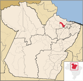 Localização de Ponta de Pedras