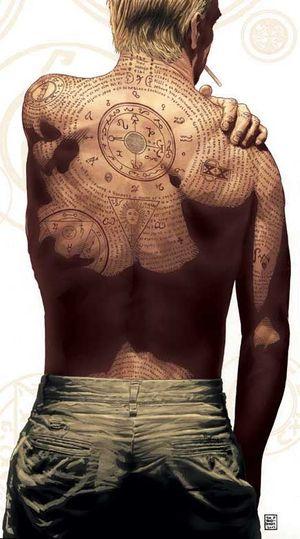 f25f07d8b09 John Constatine se prepara pra fugir da Prison Break e mostra a invocação  demoníaca tatoo