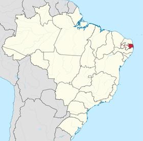 Localização da Pernambuco do Norte