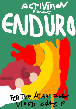 Enduro atari 2600 box art paint.png