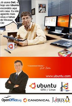 Bill Gates e sua relação promíscua com os sistemas Linux e antes de Satya Nadella tomar posse como CEO.