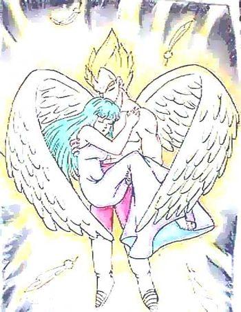 ท่านมหาเมพ อัญเชิญองค์เมพีบลูม่าขึ้นสู่สวรรค์ เพื่อเป็นเมพี